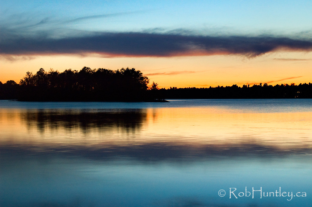 Dusk on Black Lake near Perth, Ontario. License this photo on Getty Images © Rob Huntley
