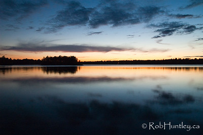 The islands at dusk on Black Lake near Perth, Ontario. © Rob Huntley