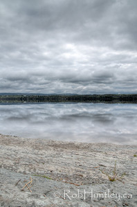 Looking towards the Quebec shoreline from the base of the point. Pinhey's Point Heritage Property and Park. © Rob Huntley 2012