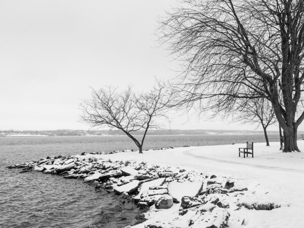 Lonely viewpoint in winter.