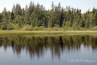 Shoreline reflections.  Pukaskwa National Park.