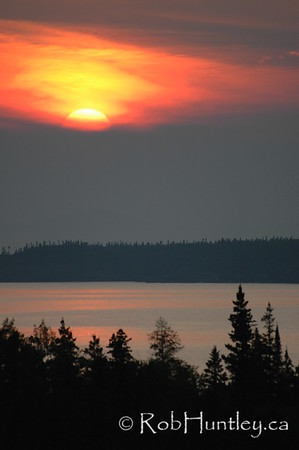 Lake Superior Sunset, Pukaskwa National Park, Marathon, Ontario. © Rob Huntley