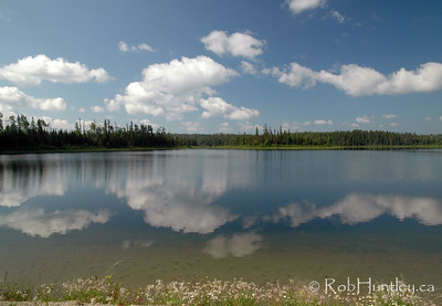 Clouds and Reflections near Pukaskwa National Park.
