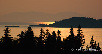 Pukaskwa Sunset, Lake Superior.