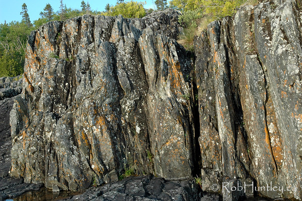 Rocky Shoreline of Lake Superior. Pukaskwa National Park.