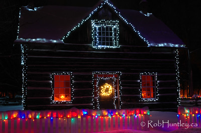 December 20, 2007. Alight at Night - Upper Canada Village, Morrisburg, Ontario. © Rob Huntley