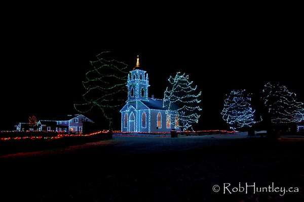 3 exposure HDR - tone compressed only. January 3, 2009. Alight at Night - Upper Canada Village, Morrisburg, Ontario. © Rob Huntley