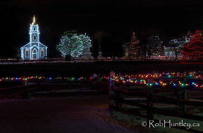 3 exposure HDR January 3, 2009. Alight at Night - Upper Canada Village, Morrisburg, Ontario. © Rob Huntley