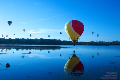 2012 Gatineau Hot Air Balloon Festival. Photos at Lac Lemay and the Hilton Hotel