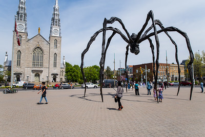 """Notre-Dame Cathedral Basilica and """"Maman"""" Sculpture"""