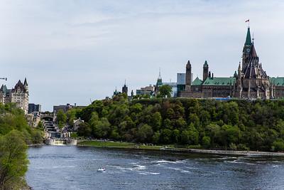 The Chateau Laurier & Parliament Buildings