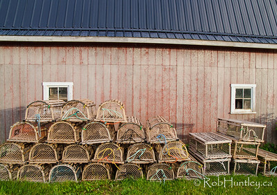 Lobster Traps, PEI. French River, Prince Edward Island.