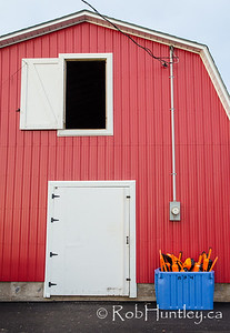 Red Shed and Fishing Buoys. French River, Prince Edward Island.