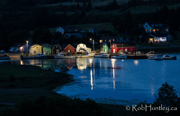 Night at French River Harbour, PEI