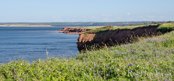 Shoreline cliffs near French River, PEI.