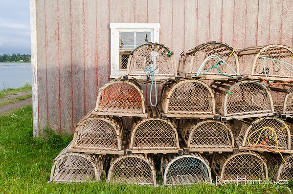 Lobster Traps.  French River, Prince Edward Island.