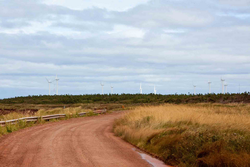 Wind Farm at North Cape<br /> Each blade is 100' long!