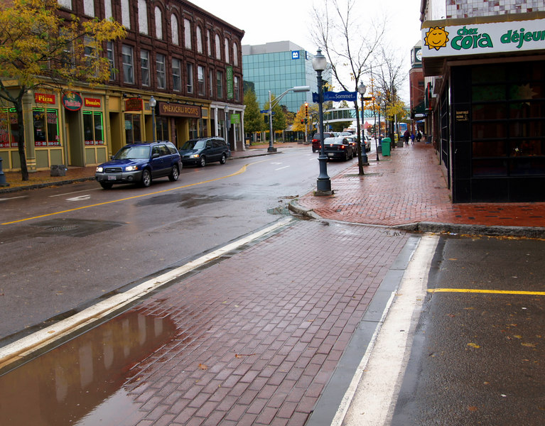 Moncton on a wet Saturday morning