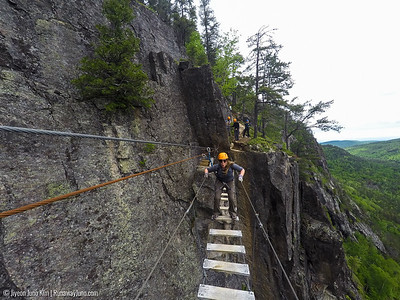 Via Ferrata at Les Palissades de Charlevoix