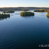 Islands on Big Cedar Lake, Quebec.