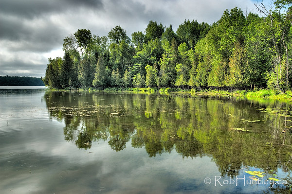 Morning on Little Cedar Lake. Little Cedar Lake is near Messines, Quebec.  License this photo on Getty Images  © Rob Huntley
