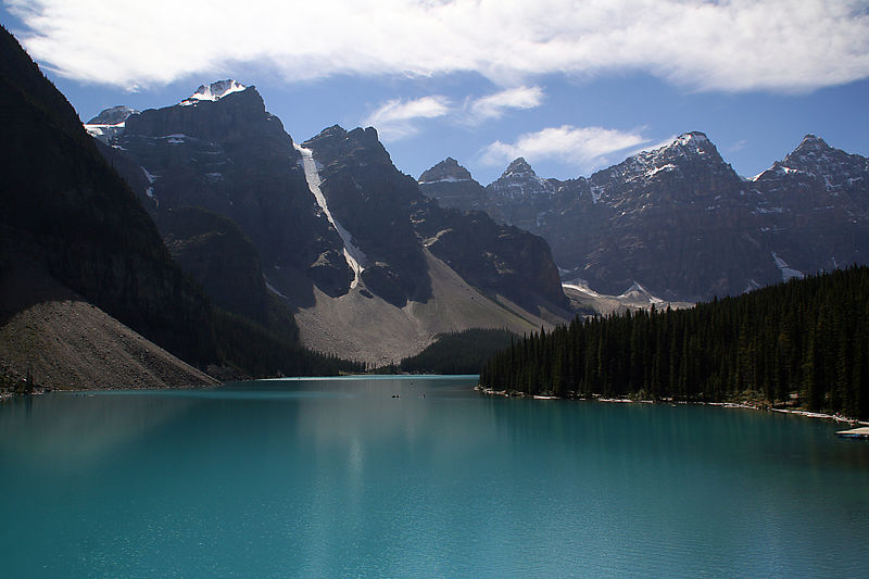 Moraine Lake. One look from the Rockpile at the lake's edge, and you're hooked, the scene from the back of Canada's old $20 bill emblazoned into your memory forever.