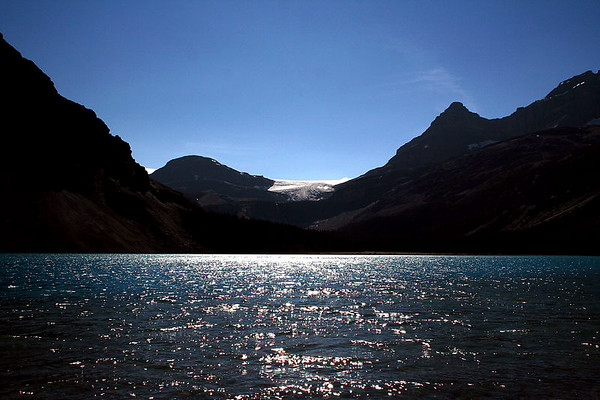 Bow Lake and the Wapta Icefield.