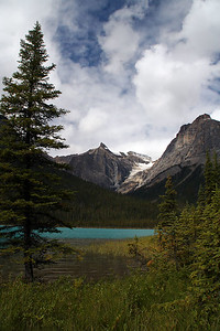 Emerald Lake in Yoho National Park, surrounded by Wapta Mountain and Mt. Carnarvon.
