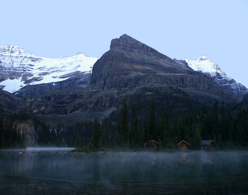"""Lake O'Hara Lodge has stood sentry to one of the singularly most beautiful places on earth, where mountain passes climb over alpine meadows gilded with larch forests. An inexpensive way to experience this beautiful scenery is to stay at the Lake O'Hara campground ;-)  <a href=""""http://oli-judy-klink.smugmug.com/gallery/1017632"""" > Gallery: Rocky Mountains - Canada (August 2005)<a/>"""