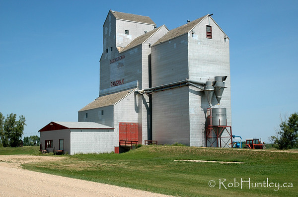 Grain elevator in Pangman, Saskatchewan.