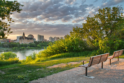 Summer Evening Alone the Rive in Saskatoon