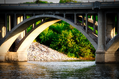 Arched Bridge with Evening Light