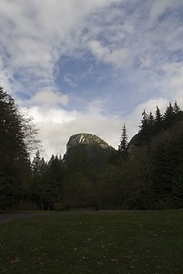 The Stawamus Chief (700 meters high), an old magma chamber of an ancient volcano is the world's second largest granite monolith (after El Capitan at Yosemite).