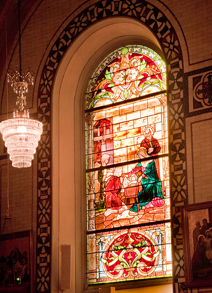 Inside a church in Old Montreal
