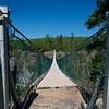 Longest suspension bridge in Canada. Over Eagle Canyon