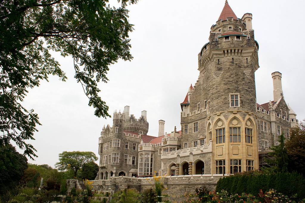 Casa Loma, built by Sir Henry Pellatt, 1911.  The house cost approximately $3.5 million and took a team of 300 workers three years to build from start to finish
