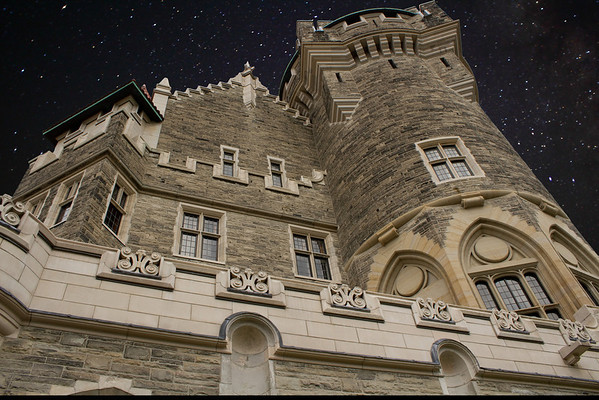 Casa Loma with a little Photoshop night sky.  :)