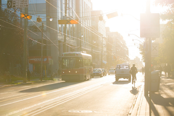 The autumn sunset on King Street