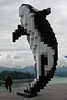 I didn't get the name of this sculpture, but I call it The Pixelated Whale.