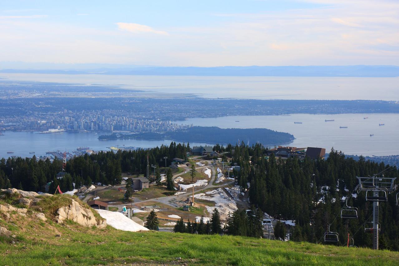 View of Vancouver City from Grouse Mountain-Eye of the Wind