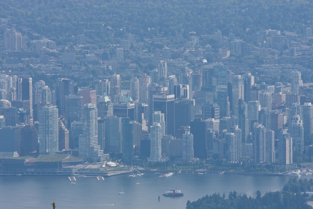 View of Vancouver City from Grouse Mountain