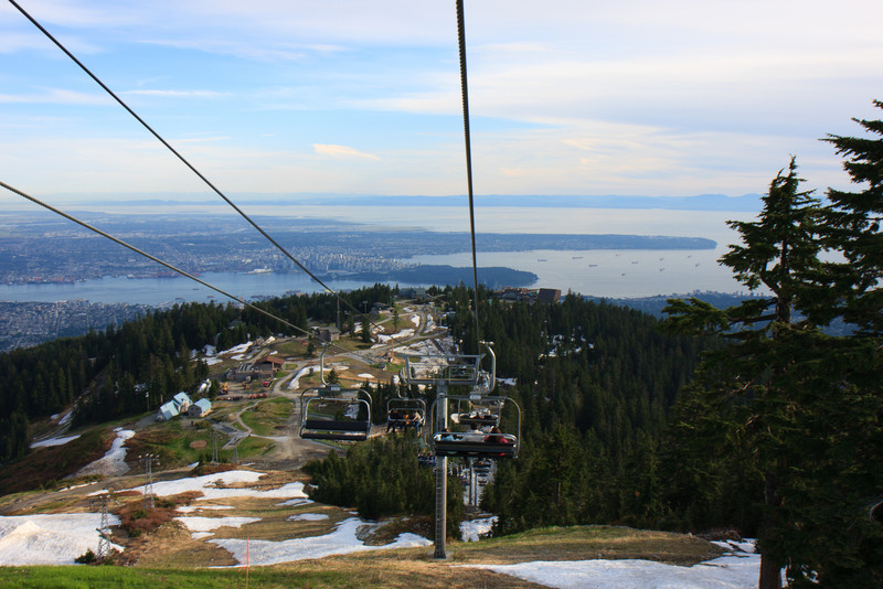 View of Vancouver City from Grouse Mountain-Chair Lift