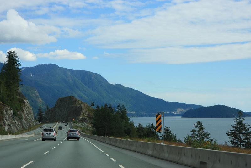 Sea to Sky Highway from Whistler to Vancouver