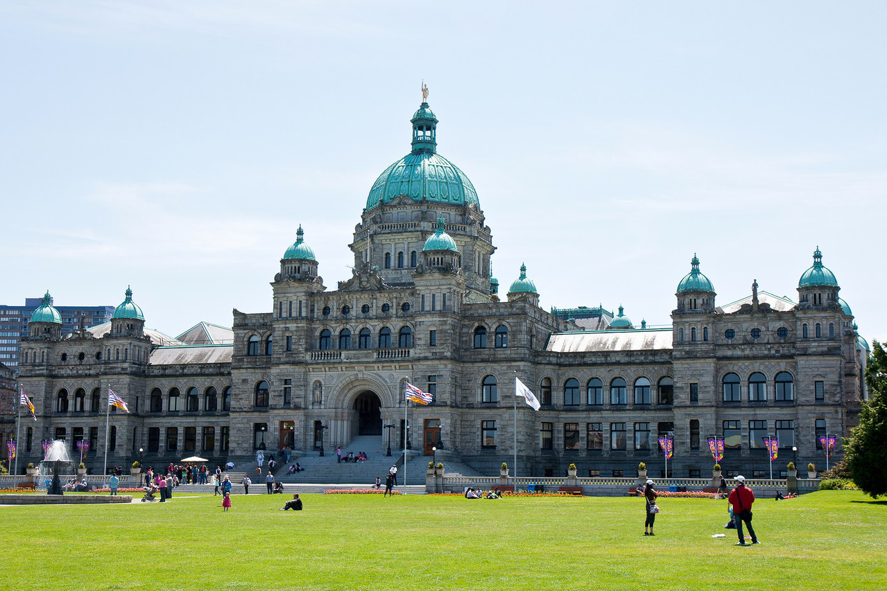 BC Parliament Building from Victoria Inner Harbour