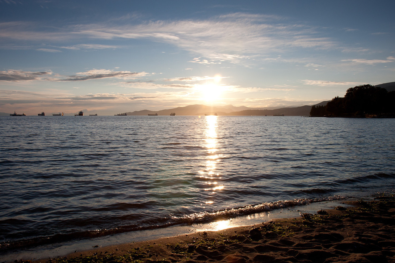 Sunset at English Bay Beach near Hotel