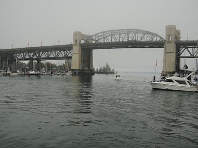 Oct. 19/13 - View from Hornby Street Dock (Burrard Street Bridge)