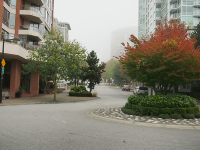 Oct. 19/13 - Looking up Hornby Street from the Hornby Street Dock