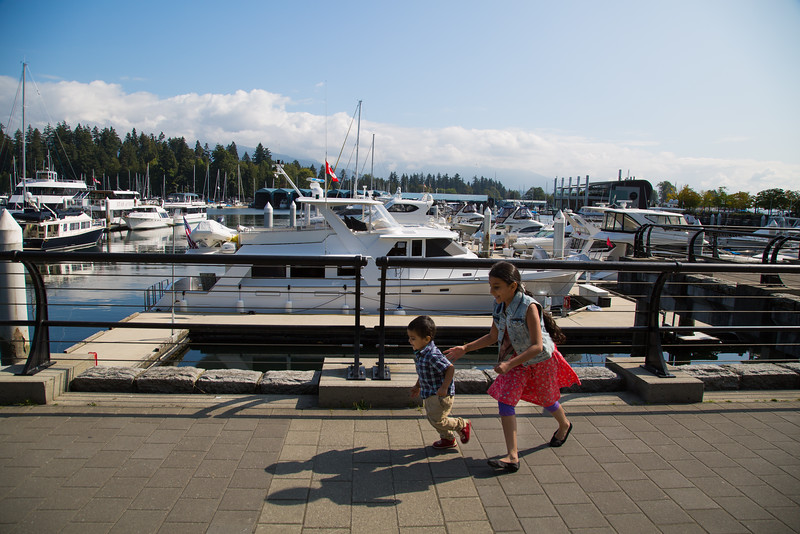 Strolling around Vancouver Harbour
