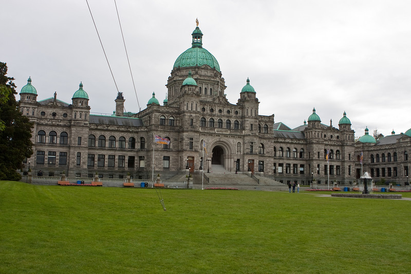 The parliament building in Victoria, BC