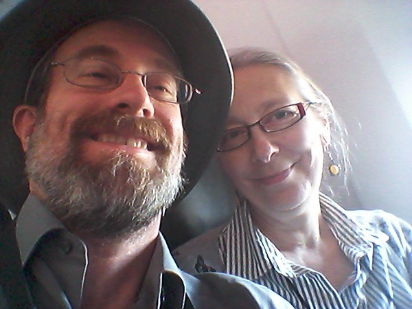 Selfie on the plane to Victoria!